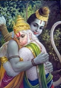 Sri Hanuman and Lord Rama - interest.com/pin/8233211795685849/