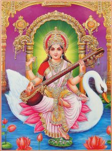 Saraswati puja is performed on Indian New Year 2016
